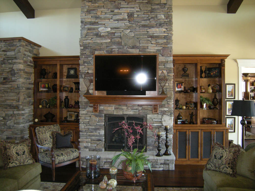Awesome Custom Living Room Cabinets