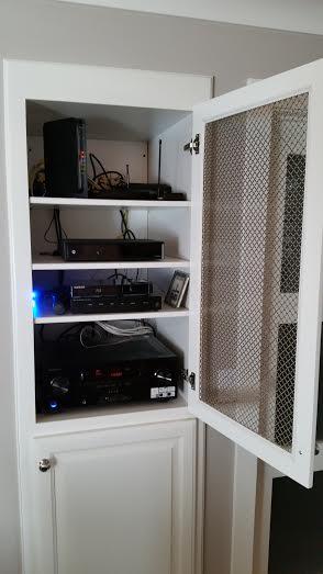 Recessed Home Theater Equipment Locker Mandinau0027s Custom