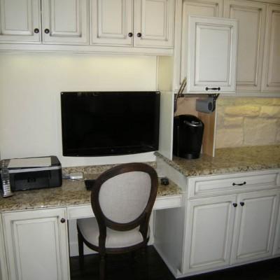 Mandina's Custom Kitchen Desk Cabinets