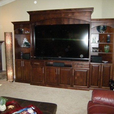 Entertainment Center Stained Alder by Mandina's Custom Cabinets