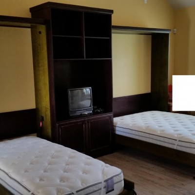 Custom Murphy Bed Installation, Cabinetry by Mandina's Custom Cabinets `