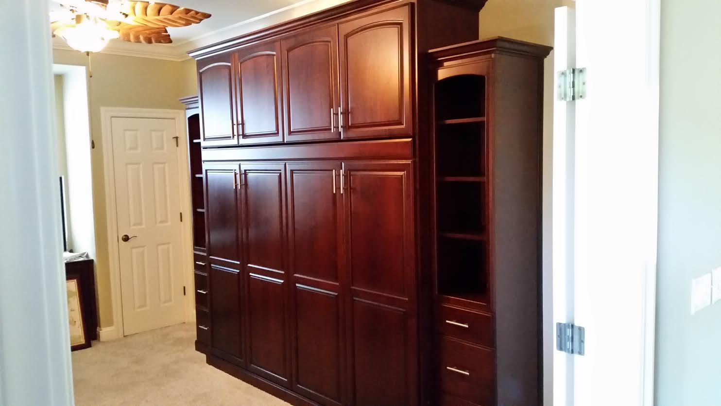Stained Alder With Hidden Murphy Bed