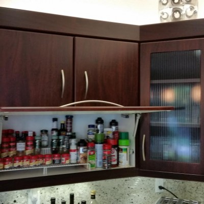 Lift Door with under cabinet lighting